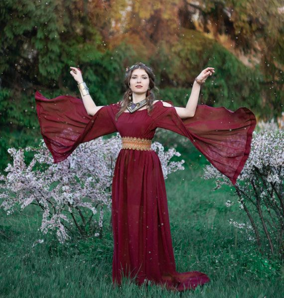 Ancient Greek dress medieval fantasy dress  by LuckyLotDress