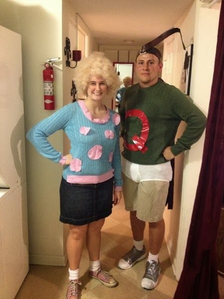 15 Awesome Couple Costumes | Awesome couple costumes and ... Quailman And Patty Mayonnaise Costume