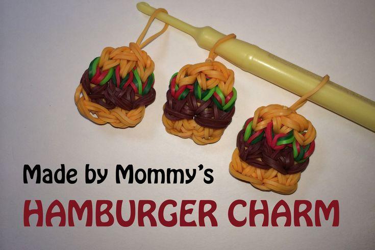 Rainbow Loom Hamburger Charm