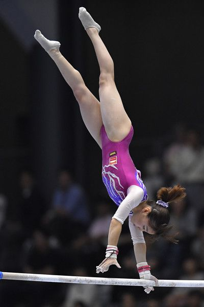 Asuka Teramoto Photos - Asuka Teramoto celebrates after competing on the balance beam during Japan National Gymnastics Apparatus Championships at the Takasaki Arena on June 25, 2017 in Takasaki, Japan. - Asuka Teramoto Photos - 29 of 249