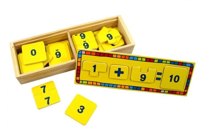 Simple Maths Box Set - $13 A great tool consisting of wooden tiles to assist in number addition and subtraction to the factor of 10 and comes with its on wooden storage box 2yrs +