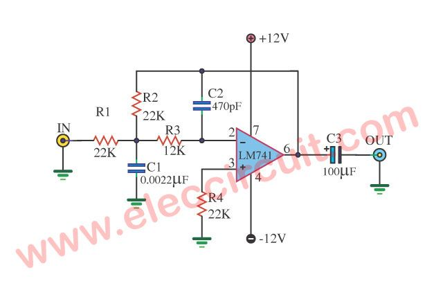 15 Filter Circuits Using Electronic Coil Circuit Projects