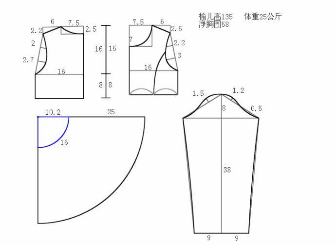 ★아이옷만들기★ 패플럼 스타일 긴팔 상의 패턴 135사이즈 : 네이버 블로그