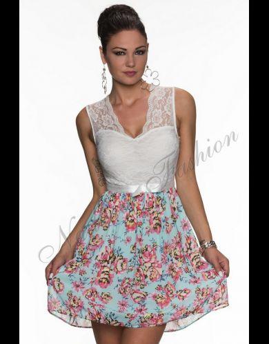 Koronkowa sukienka w kwiatki