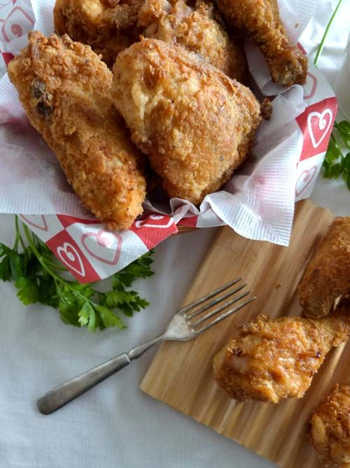 Pollo frito extra crujiente. Un truco en el empanado, más un truco en la cocción, hacen de este pollo frito la receta más crujiente que hay!