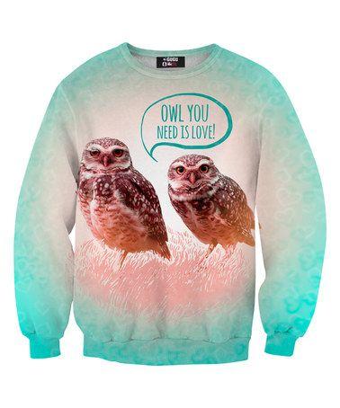 Love this Turquoise & Pink Owls Sweatshirt - Adult by Mr. Gugu & Miss Go on #zulily! #zulilyfinds