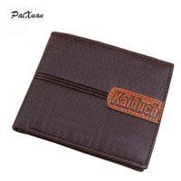 Designer Famous Brand Luxury Men Wallets Leather Pu Mens Wallet Solid Short Money Clip Purses Wallets Portfolio Man Cuzdan Sale