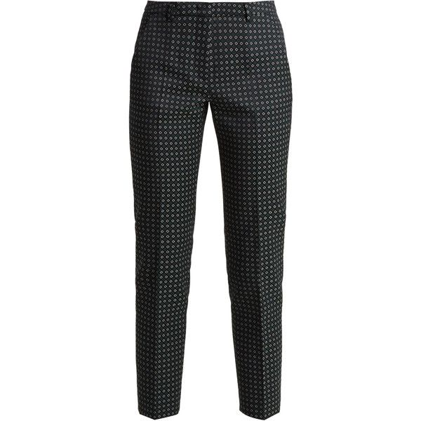 Weekend Max Mara Mincio trousers (16.330 RUB) ❤ liked on Polyvore featuring pants, navy print, navy trousers, tailored pants, square pants, patterned pants and weekend max mara