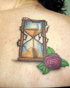 Hourglass Sand Flower Barbed Wire Tattoo - Design Your Own Tattoo