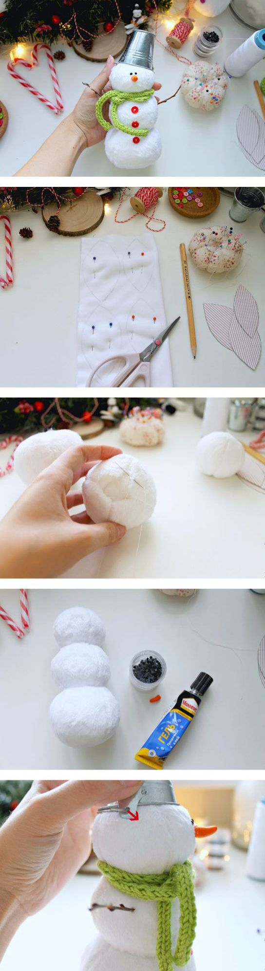 How to sew fabric Teddy Snowman. Click on image to see step-by-step tutorial