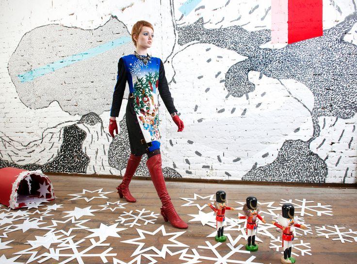 30% OFF Manekineko christmas dress glamour hipster by NATIPUREIDEA