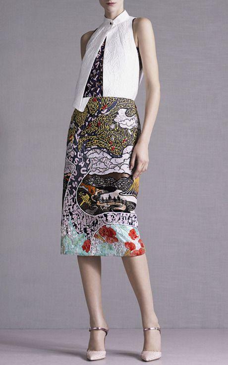 Winding River Embroidered Skirt by Mary Katrantzou for Preorder on Moda Operandi
