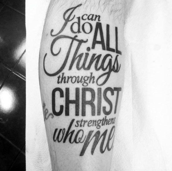 40 Philippians 4 13 Tattoo Designs For Men: 25+ Trending Men's Leg Tattoos Ideas On Pinterest