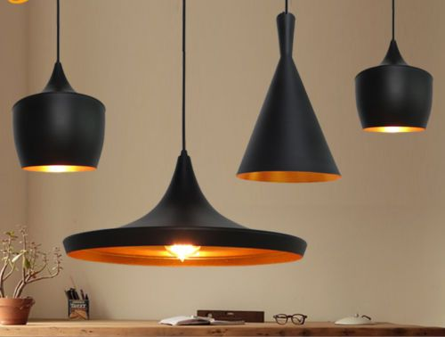 TOM-Dixon-Beat-Style-Black-Metal-Vintage-Ceiling-Shade-Light-Pendant-Lamp