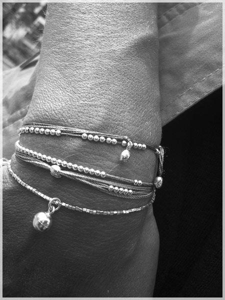 Les Ronds de Lola #bracelet #argent * Perles dansantes *