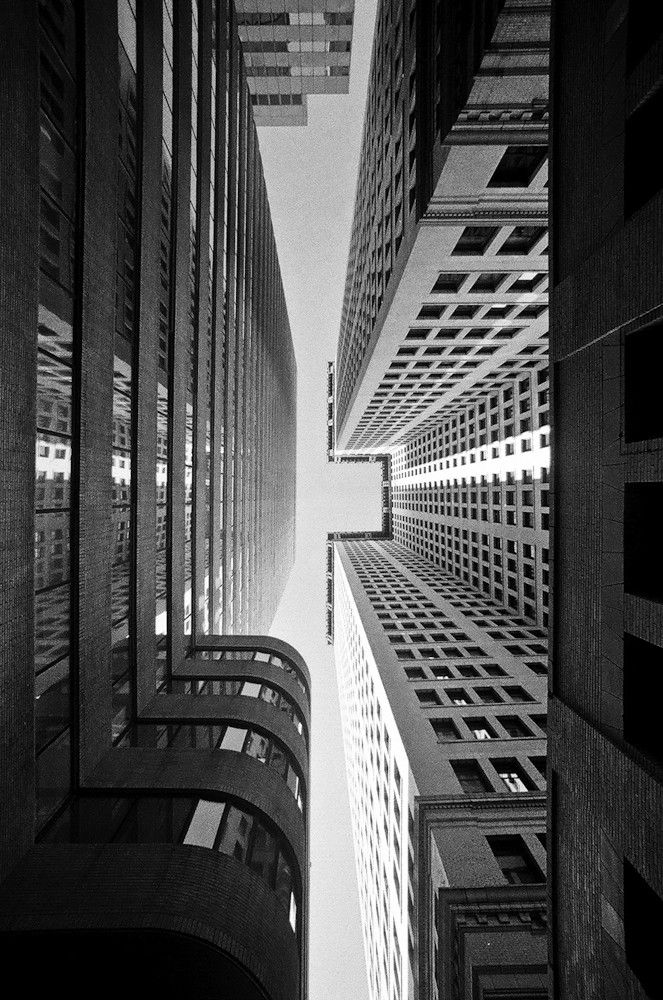Amazing perspective in this photo nyc photo by rogue samus in black and white bw