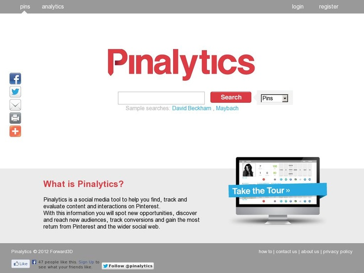 Pinalytics - Pinterest Tools For Business. Follow us for business tips & free ebooks @Phonetic Media (www.phoneticmedia.co.uk) | The website http://pinalytics.co.uk/ courtesy of @Pinstamatic (http://pinstamatic.com)