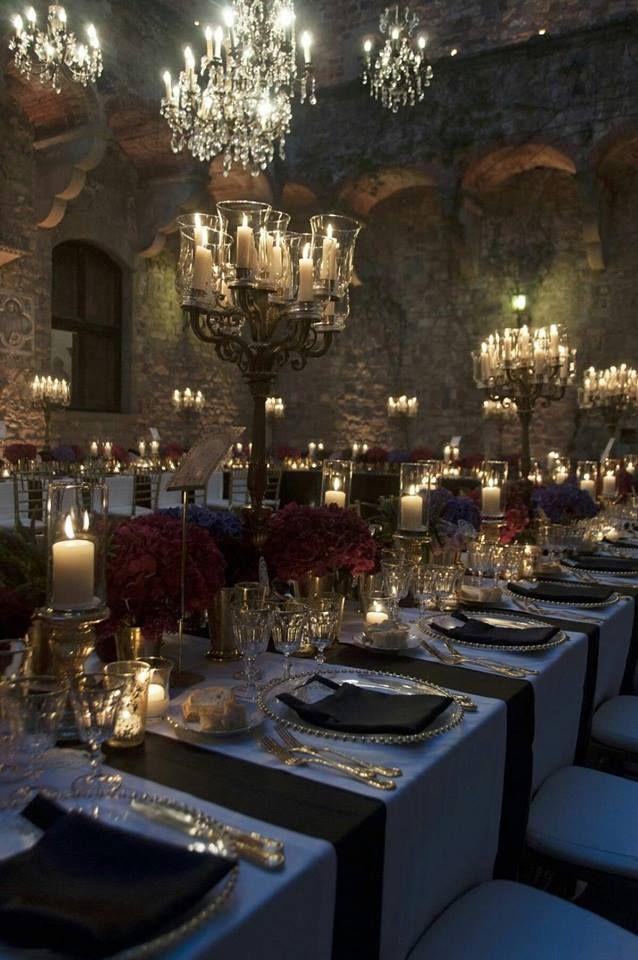 9378fbd30 Event Design · An elegant dinner setting. First Edition Candle Company  Gothic Wedding, Luxury Wedding, Dream