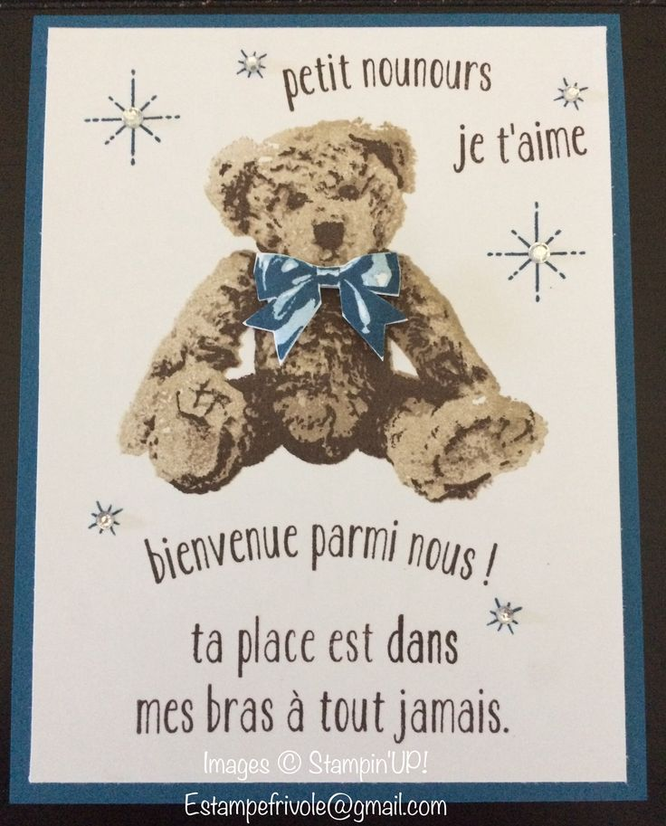 Baby Bear / Bébé Ourson Stampin'UP!