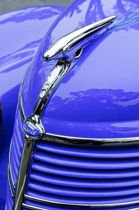 #1938 #Ford #Hood #Ornament - Car Images by Jill Reger
