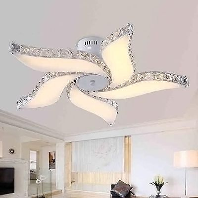 "29"" Modern Crystal Pendant Light Ceiling Lamp Chandelier Dining Room Lighting"