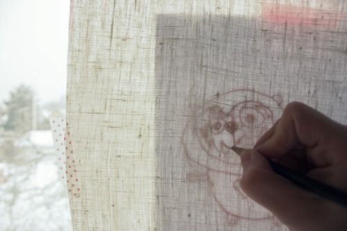 So cute, mom tracing kids drawing for a craft pattern