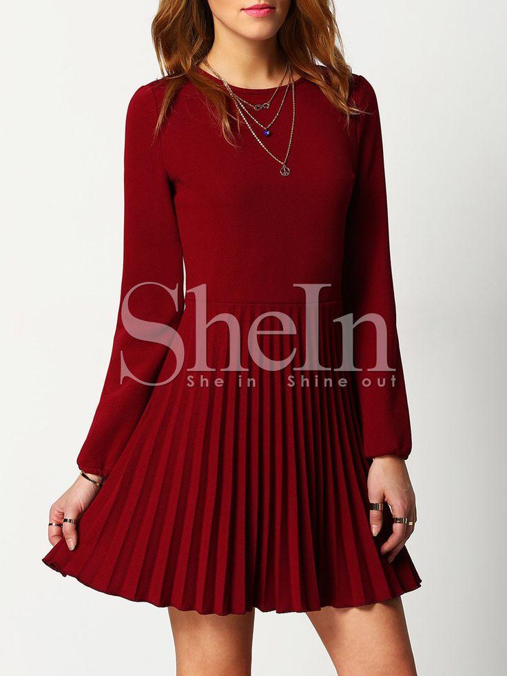 Die besten 17 ideen zu dunkelrote kleider auf pinterest for Shein frauen mode