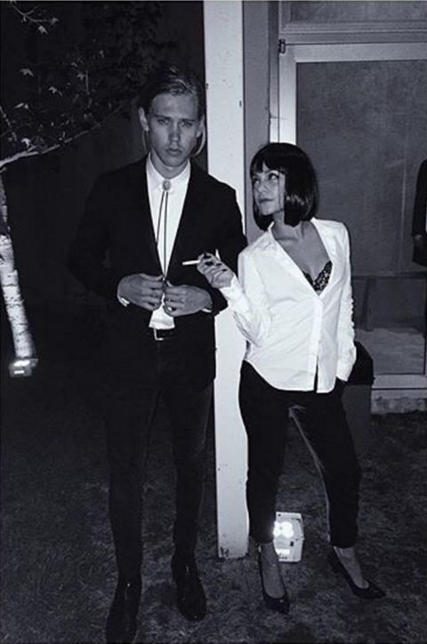 What's a better movie costume than Pulp Fiction's Mia Wallace and Vincent Vega!? Vanessa Hudgens and Austin Butler make a lovely pair as this famous movie couple for Halloween!