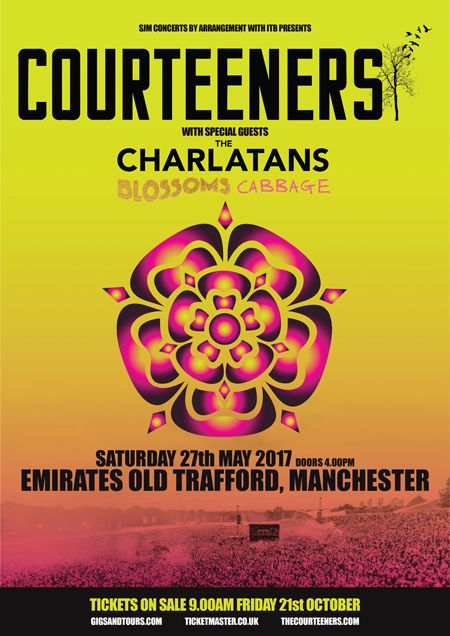 Courteeners Headline Emirates Old Trafford. May 2017.WithGuitars