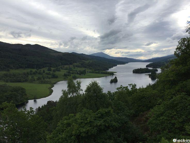 Una delle terrazze panoramiche più famose del mondo, la Queen's View nel Perthshire, #scozia