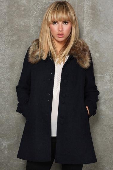 Pins & Needles Velvet Fur Coat.  Perfect for the winter. Click for info: http://tidd.ly/fc0e55b2