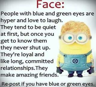 Folk med blå og grønne øjne