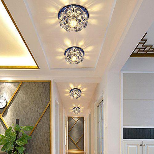 LED Aisle Lights Porch Lamp Light Lighting Living Room Crystal Spot Lights  Down In The Foyer