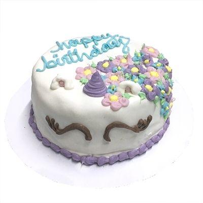 Making a dog birthday cake