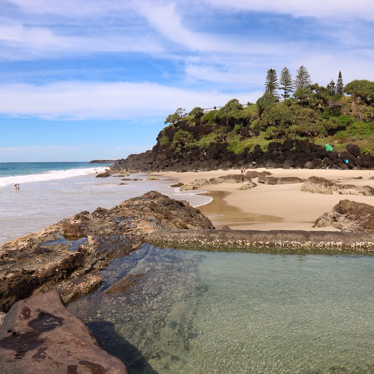 Snapper Rocks, Beach Bath, Coolangatta, Gold Coast