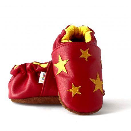 Zapatos bebes primeros pasos. Con suela blanda antideslizante en piel natural.
