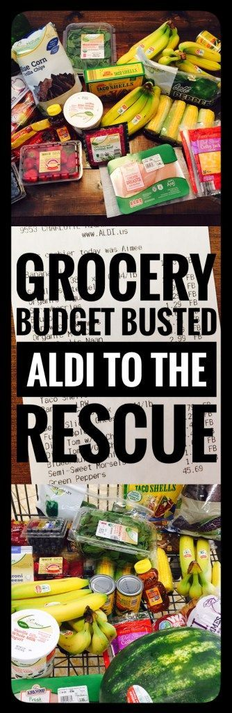 Grocery budget was busted! ALDI to the rescue! A week's worth of groceries for $45. Meal plan included