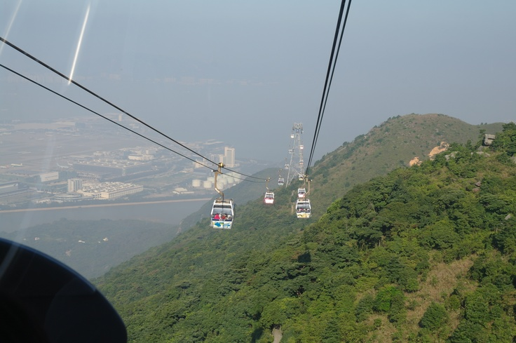 Ngong Ping 360 Cable Car to the seated Buddha