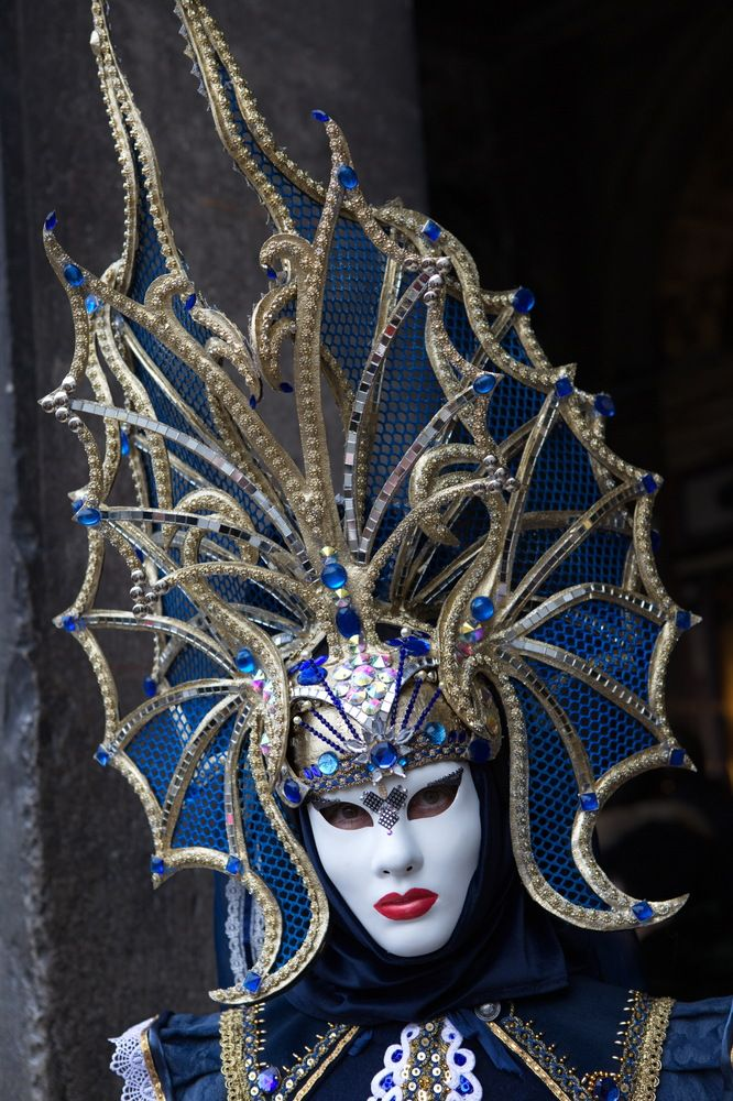 Tall hat in blue, Carnival of Venice 2014 ~ Walter Pescosta
