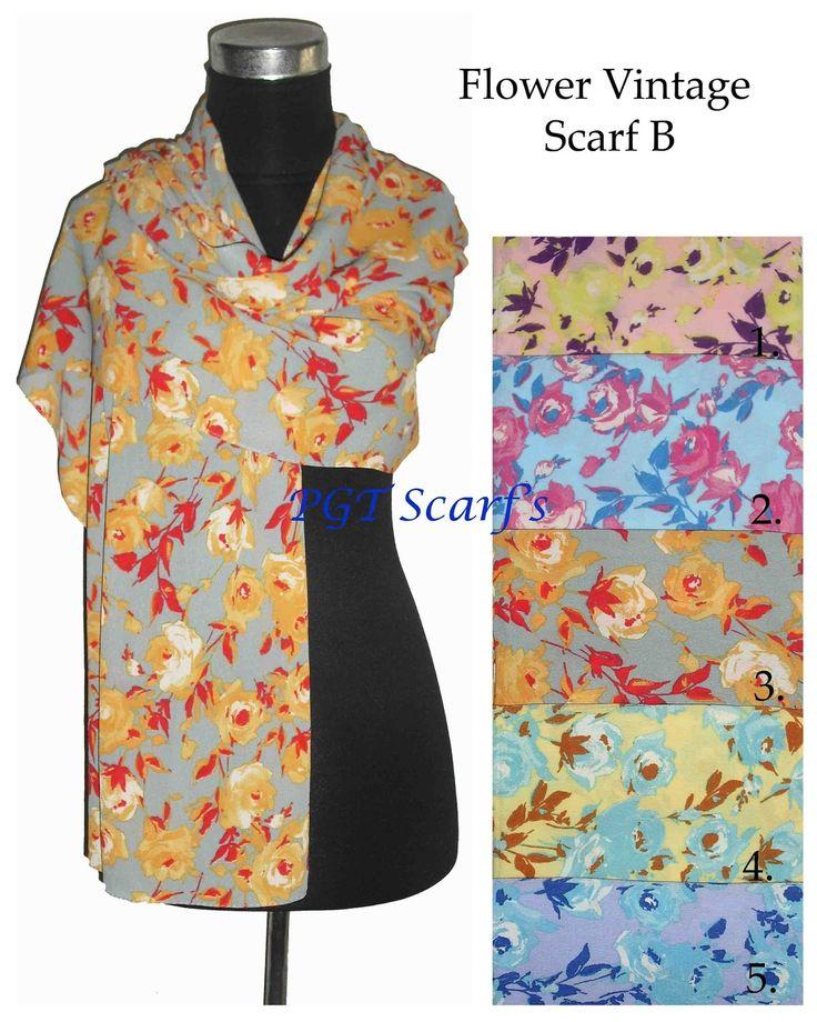 distributor suplier pashmina scarves scarf shawl syal selendang pashmina instant motif bunga cantik murah grosir borong wholesale