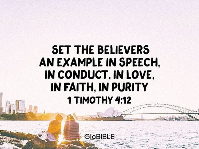 Set the Believers an example in speech, in conduct, in love, in - example speech