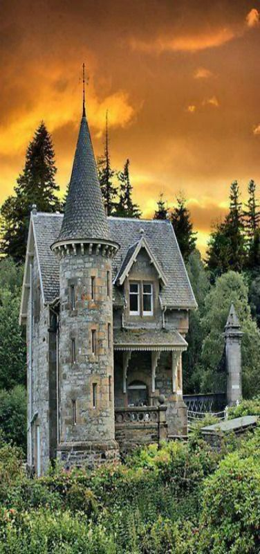 "Gatehouse to Ardverickie Estate next to Loch Laggen ~ Scotland, Series ""Monarch of the Glen"" was filmed here."