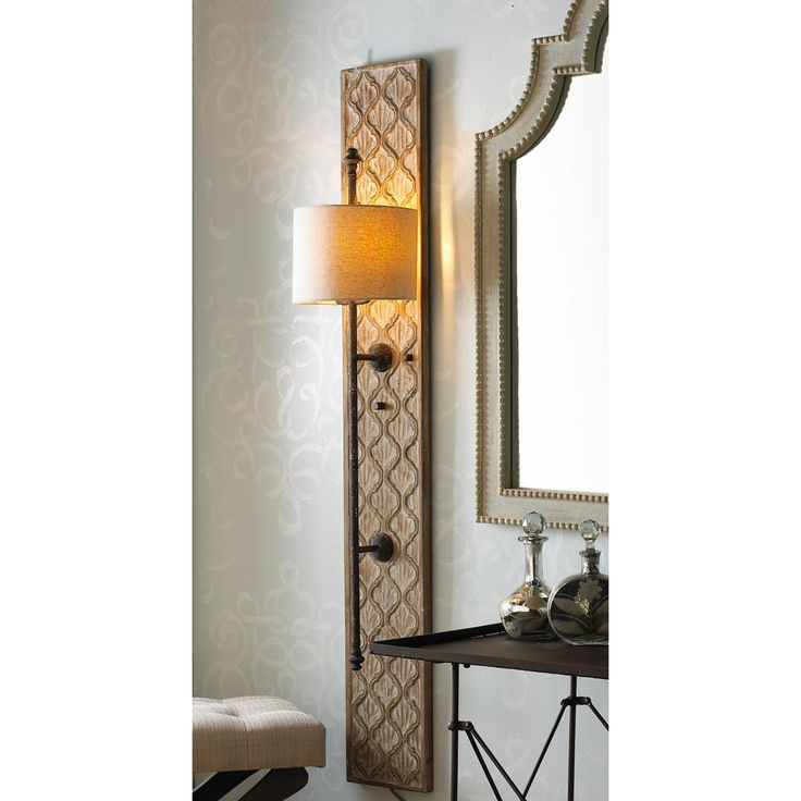 Quatrefoil Wooden Panel Sconce. Wall Light ...  sc 1 st  Pinterest & 102 best Wall Sconces images on Pinterest | Wall sconces Bathroom ... azcodes.com