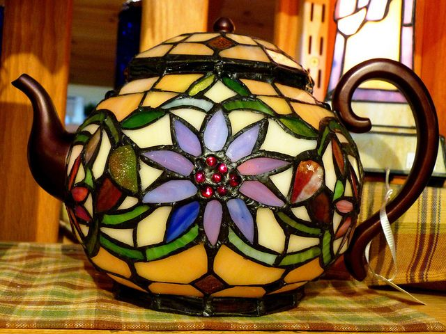 I love the look of some stained glass...such beautiful art!  stained glass teapots - Google Search