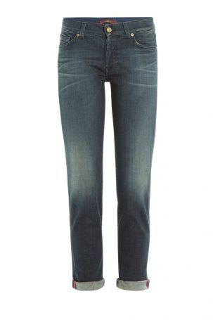Seven for all Mankind Seven for all Mankind Cropped Jeans Josefina aus Stretch-Baumwolle – Blau