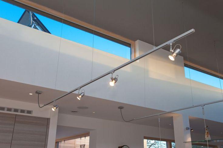 Suspended track lighting system: Hampshire Light | Modern ...