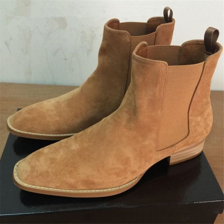 Cheap shoes fashion, Buy Quality shoes west directly from China shoes shoes Suppliers: 100% Genuine Leather Men Boots New Handmade Crepe Bottom Kanye West Boots Men Platform Nubuck Chelsea Boots Season Fashion Shoes