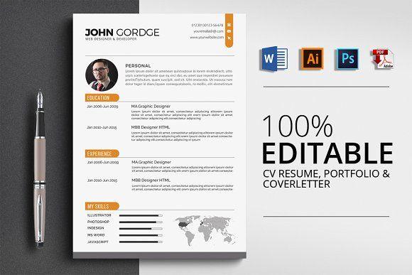 CV Resume by Design Up on @creativemarket