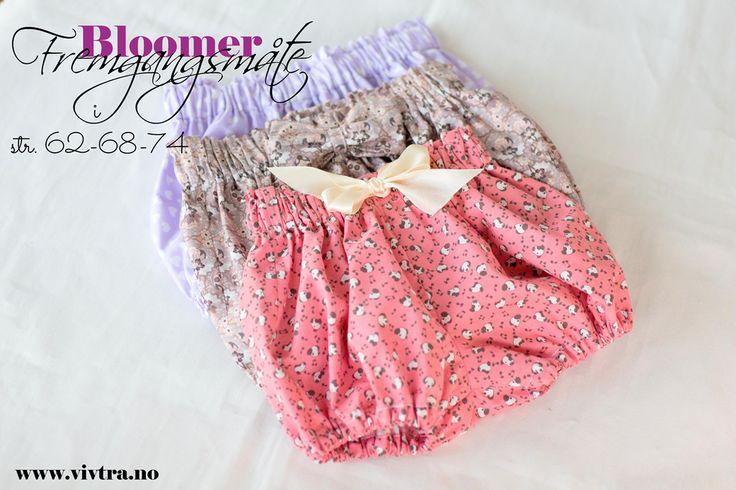 Enkel bloomer kan bruke som bleietruse på sommer eller har stømpebuksen under nå i vinteren. Bloomer er også fint har under kjoler. Det du trenger: Mønster kan du printe ut fra linkenen her under. …