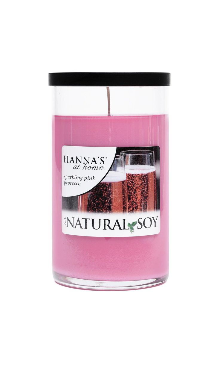 Natural Soy Sparkling Pink Prosecco Scented Soy Candle